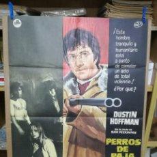 Cine: PERROS DE PAJA. DUSTIN HOFFMAN-SAM PECIMPAH. CARTEL ORIGINAL 1973. 70X100. Lote 205112945