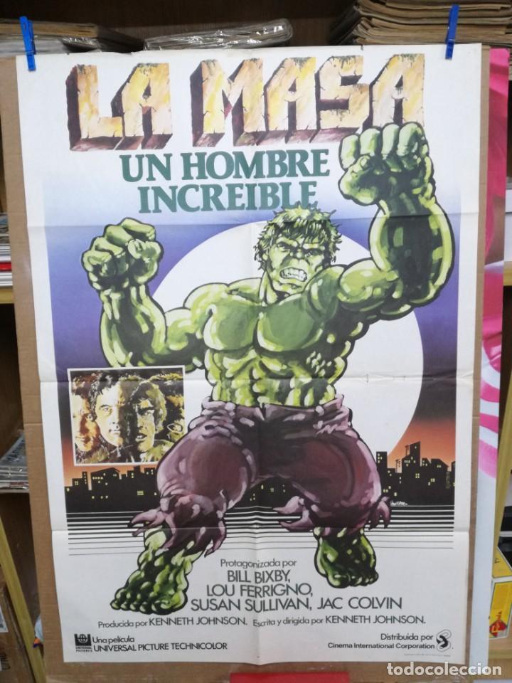 CARTEL CINE, LA MASA UN HOMBRE INCREIBLE, BILL BIXBY, LOU FERRIGNO, 1980 (Cine - Posters y Carteles - Acción)