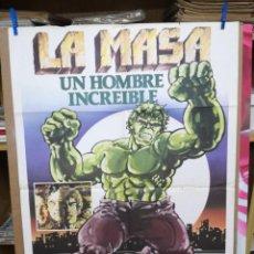 Cine: CARTEL CINE, LA MASA UN HOMBRE INCREIBLE, BILL BIXBY, LOU FERRIGNO, 1980. Lote 205114550