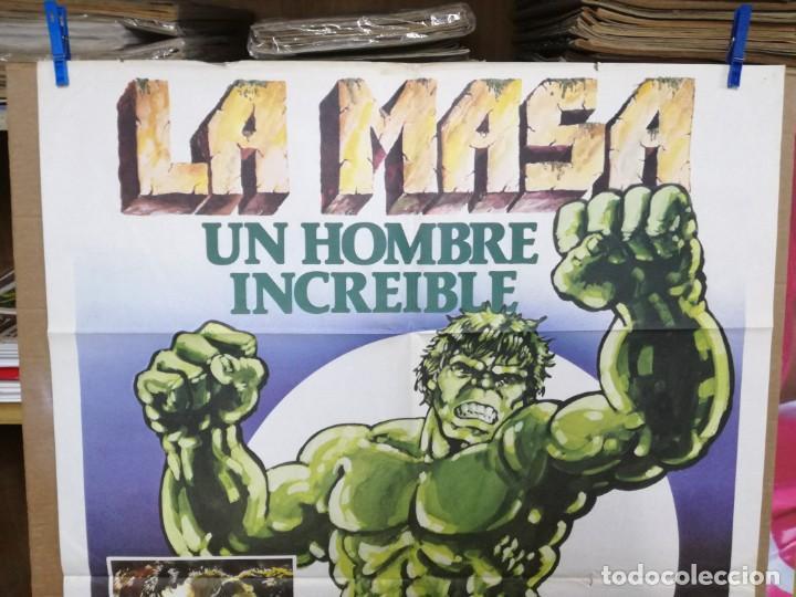Cine: CARTEL CINE, LA MASA UN HOMBRE INCREIBLE, BILL BIXBY, LOU FERRIGNO, 1980 - Foto 2 - 205114550