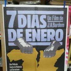 Cine: ANTIGUO CARTEL DE CINE 70 X 100 CM. 7 DÍAS DE ENERO - 1979. Lote 205115856
