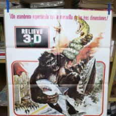 Cine: EL GORILA ATACA - POSTER CARTEL ORIGINAL - PAUL LEDER ROD ARRANTS RELIEVE 3 D SERIE B SIMIOS. Lote 205117223