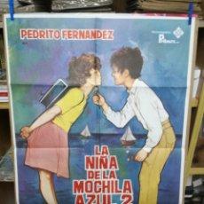Cine: CARTEL DE CINE - MOVIE PÓSTER - LA NIÑA DE LA MOCHILA AZUL 2- AÑO 1981. Lote 205117375