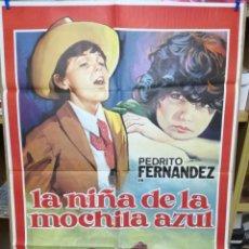 Cine: CARTEL CINE LA NIÑA DE LA MOCHILA AZUL. Lote 205117973
