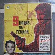 Cine: AAI87 9 HORAS DE TERROR HORST BUCCHOLZ DIANE BAKER MAC POSTER ORIGINAL 70X100 ESTRENO. Lote 205121015