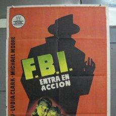 Cine: AAI94 FBI ENTRA EN ACCION GENE BARRY POSTER ORIGINAL 70X100 ESTRENO. Lote 205126491