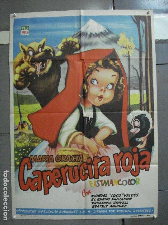 AAJ00 CAPERUCITA ROJA MARIA GRACIA MANUEL VALDES POSTER ORIGINAL 70X100 ESTRENO (Cine - Posters y Carteles - Infantil)