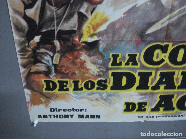 Cine: AAJ03 LA COLINA DE LOS DIABLOS DE ACERO ANTHONY MANN ROBERT RYAN POSTER ORIGINAL 70X100 ESTRENO - Foto 5 - 205133180