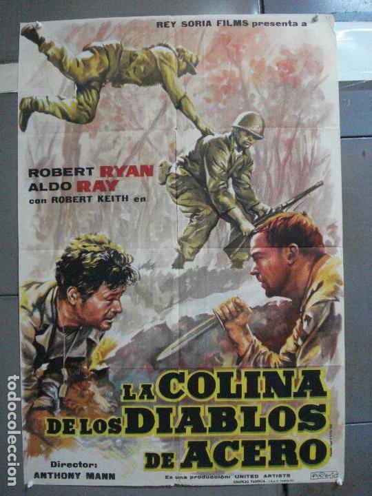 AAJ03 LA COLINA DE LOS DIABLOS DE ACERO ANTHONY MANN ROBERT RYAN POSTER ORIGINAL 70X100 ESTRENO (Cine - Posters y Carteles - Bélicas)