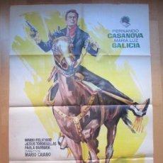 Cine: CARTEL CINE EL VENGADOR DE CALIFORNIA FERNANDO CASANOVA MARIA LUZ GALICIA JANO 1963 C1702. Lote 205135876