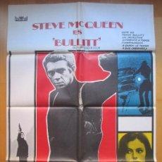 Cinema: CARTEL CINE BULLITT STEVE MCQUEEN ROBERT VAUGHN 1978 C1749. Lote 205137815