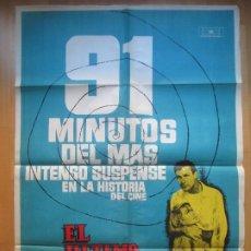 Cine: CARTEL CINE EL ULTIMO VIAJE ROBERT STACK DOROTHY MALONE MAC 1962 C1640. Lote 205138708