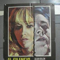 Cine: AAJ23 EL SILENCIO DE UN HOMBRE ALAIN DELON MELVILE ESCOBAR POSTER ORIGINAL 70X100 ESTRENO. Lote 205145443