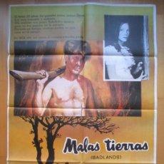 Cine: CARTEL CINE, MALAS TIERRAS, PRESSMAN-WILLIAMS, 1975, C425. Lote 205146152