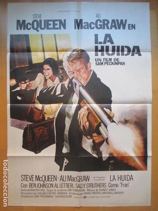 CARTEL CINE, LA HUIDA, STEVE MAC QUEEN, ALI MACGRAW, 1980, C782 (Cine - Posters y Carteles - Acción)