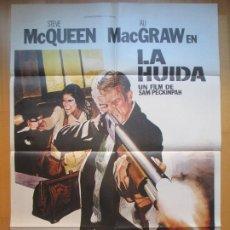 Cine: CARTEL CINE, LA HUIDA, STEVE MAC QUEEN, ALI MACGRAW, 1980, C782. Lote 205156566