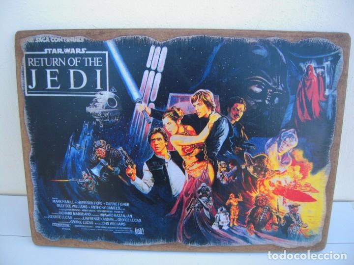 CUADRO POSTER PEGADO A MADERA STAR WARS (Cine - Posters y Carteles - Ciencia Ficción)