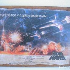 Cine: CUADRO POSTER PEGADO A MADERA STAR WARS. Lote 205174935