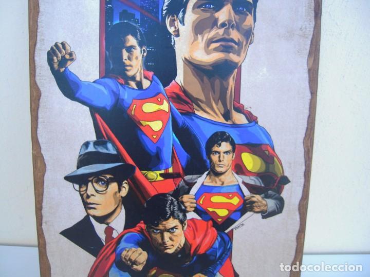 Cine: cuadro poster pegado a madera superman - Foto 2 - 205174970
