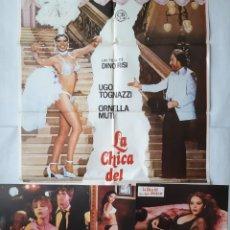 Cine: ANTIGUO CARTEL CINE LA CHICA DEL ATARDECER ORNELLA MUTI + 12 FOTOCROMOS 1979 CC233. Lote 205204498