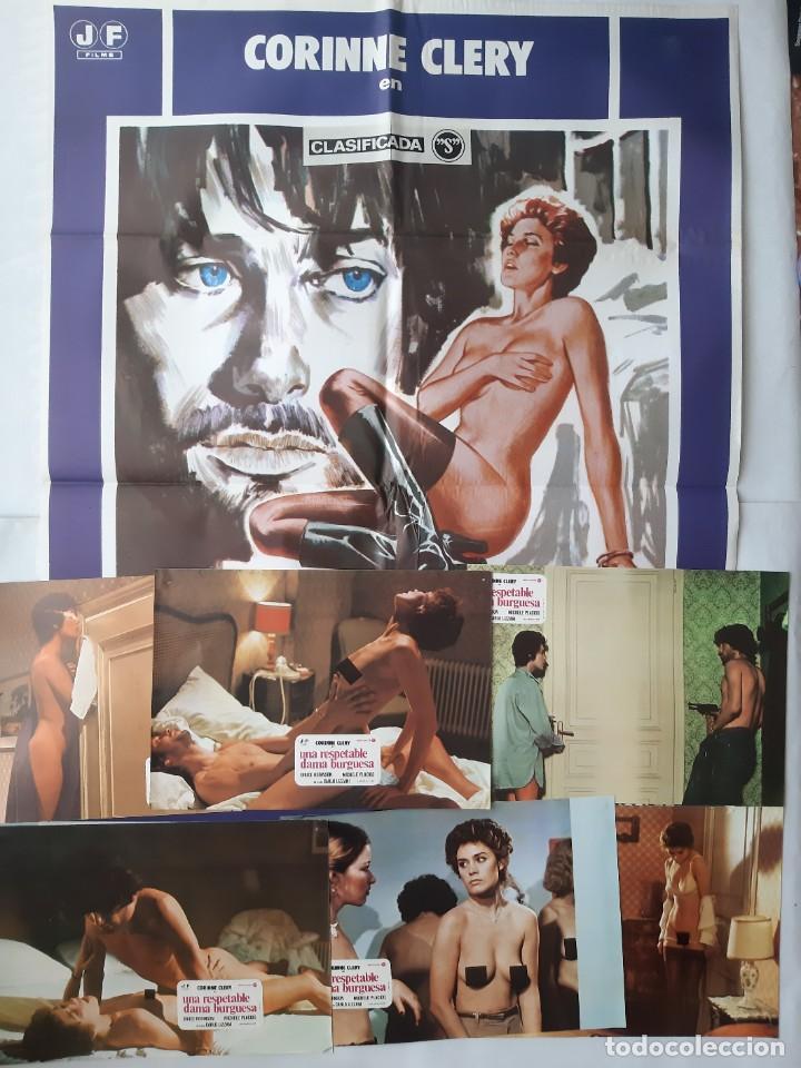 ANTIGUO CARTEL CINE UNA RESPETABLE DAMA BURGUESA CLASIFICADA S + 12 FOTOCROMOS 1978 CC224 (Cine - Posters y Carteles - Acción)