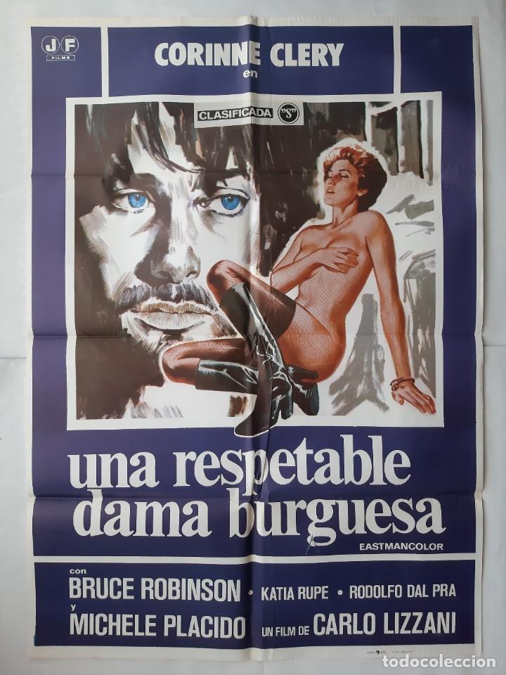 Cine: ANTIGUO CARTEL CINE UNA RESPETABLE DAMA BURGUESA CLASIFICADA S + 12 FOTOCROMOS 1978 CC224 - Foto 2 - 205204512
