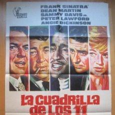 Cine: CARTEL CINE, LA CUADRILLA DE LOS 11, FRANK SINATRA, DEAN MARTIN, JANO, 1972, C762. Lote 205236838