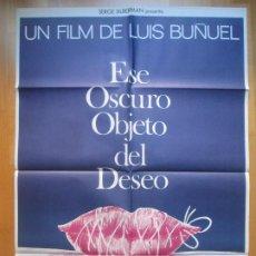 Cinema: CARTEL CINE, ESE OSCURO OBJETO DEL DESEO, FERNANDO REY, ANGELA MOLINA, 1977, C746. Lote 205236935