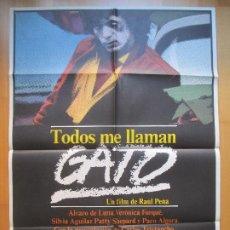 Cine: CARTEL CINE, TODOS ME LLAMAN GATO, ALVARO DE LUNA, VERONICA FORQUE, 1981, C709. Lote 205237627