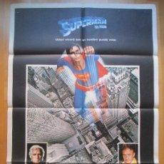 Cine: CARTEL CINE, SUPERMAN EL FILM, MARLON BRANDO, GENE HACKMAN, 1979, C790. Lote 205135698