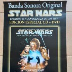 Cine: STAR WARS EPISODIO III , PÓSTER PROMOCIONAL PARA LA EDICIÓN DE CD Y DVD. Lote 205239177