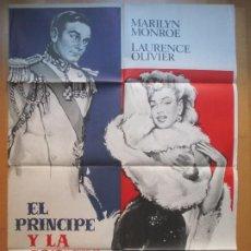 Cine: CARTEL CINE, EL PRINCIPE Y LA CORISTA, MARILYN MONROE, LAURENCE OLIVIER, 1973, MCP, C800. Lote 205239398