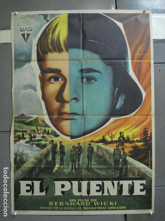 AAJ41 EL PUENTE BERNHARD WICKI POSTER ORIGINAL 70X100 ESTRENO (Cine - Posters y Carteles - Bélicas)