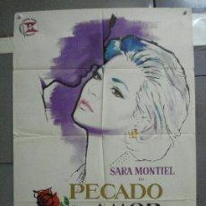 Cine: AAJ51 PECADO DE AMOR SARA MONTIEL MAC POSTER ORIGINAL ESTRENO 70X100. Lote 205268348