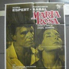 Cine: CDO 2490 MARIA ROSA FRANCISCO RABAL NURIA ESPERT POSTER ORIGINAL 70X100 ESTRENO. Lote 205278410
