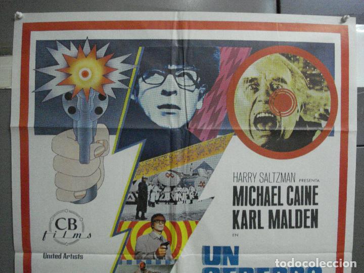 Cine: CDO 2499 UN CEREBRO DE UN BILLON DE DOLARES MICHAEL CAINE POSTER ORIGINAL 70X100 ESTRENO - Foto 2 - 205283052