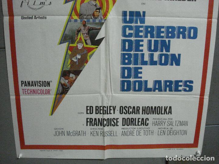 Cine: CDO 2499 UN CEREBRO DE UN BILLON DE DOLARES MICHAEL CAINE POSTER ORIGINAL 70X100 ESTRENO - Foto 3 - 205283052