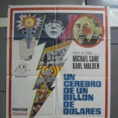 Cine: CDO 2499 UN CEREBRO DE UN BILLON DE DOLARES MICHAEL CAINE POSTER ORIGINAL 70X100 ESTRENO. Lote 205283052