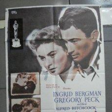 Cine: CDO 2510 RECUERDA SPELLBOUND ALFRED HITCHCOCK INGRID BERGMAN GREGORY PECK POSTER ORIGINAL 70X100 R82. Lote 205297443