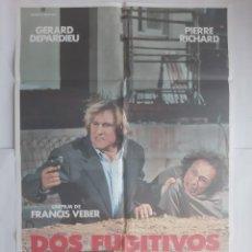 Cine: ANTIGUO CARTEL CINE DOS FUGITIVOS + 12 FOTOCROMOS 1987 CC238. Lote 205316463