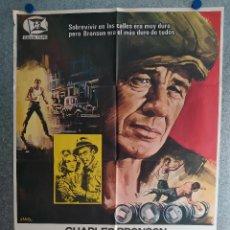Cine: EL LUCHADOR. CHARLES BRONSON, JAMES COBURN. AÑO 1976. POSTER ORIGINAL. Lote 205347737