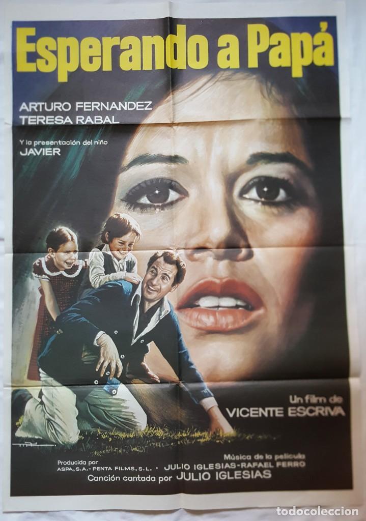PÓSTER ORIGINAL ESPERANDO A PAPA TERESA RABAL.ARTURO FERNÁNDEZ (Cine - Posters y Carteles - Clasico Español)