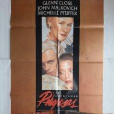Cinéma: ANTIGUO CARTEL CINE LAS AMISTADES PELIGROSAS + 16 FOTOCROMOS 1988 CC243. Lote 205553756