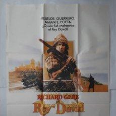 Cine: ANTIGUO CARTEL CINE RICHARD GERE REY DAVID 1985 C574. Lote 205557335