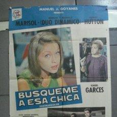 Cine: CDO 2515 BUSQUEME A ESA CHICA MARISOL DUO DINAMICO POSTER ORIGINAL 70X100 ESTRENO. Lote 205658978
