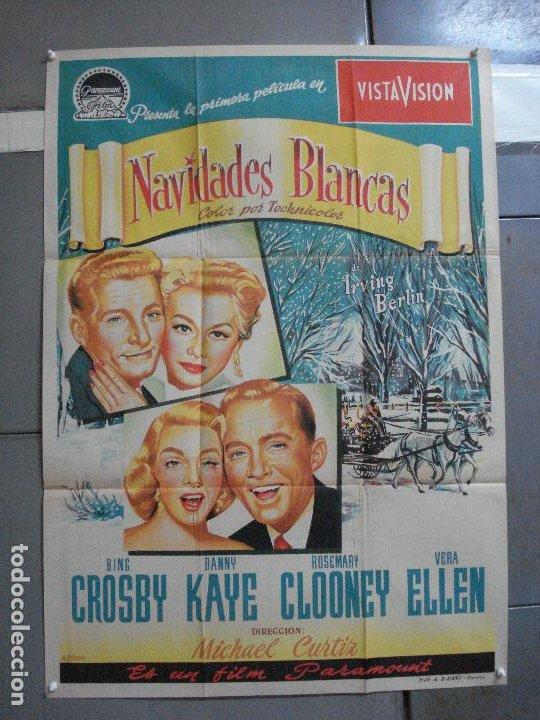 AAG82D NAVIDADES BLANCAS BING CROSBY DANNY KAYE POSTER ORIGINAL 70X100 ESTRENO LITOGRAFIA (Cine - Posters y Carteles - Musicales)