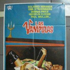 Cinema: CDO 2518 LAS VAMPIRAS JESUS FRANCO SOLEDAD MIRANDA JANO POSTER ORIGINAL 70X100 ESTRENO. Lote 205665455