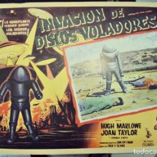 Cine: LOBBY CARD INVASIÓN DE DISCOS VOLADORES - MÉXICO - EARTH VS. THE FLYING SAUCERS. Lote 205665856