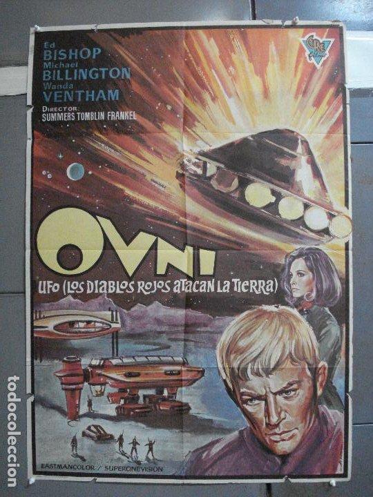 CDO 2526 OVNI UFO LOS DIABLOS ROJOS ATACAN LA TIERRA GERY ANDERSON POSTER ORIGINAL 70X100 ESTRENO (Cine - Posters y Carteles - Ciencia Ficción)