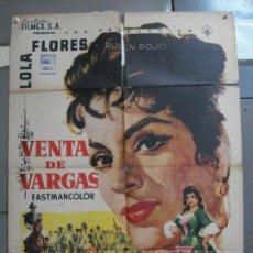 Cine: CDO 2535 VENTA DE VARGAS LOLA FLORES POSTER ORIGINAL MEJICANO 70X94. Lote 205672606